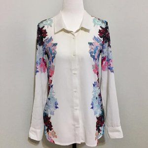 H&M White Blouse with Floral Pattern
